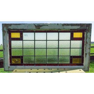 51 x 93,5 cm - Glas in lood raam No. 189