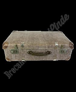 Vintage koffer 'Bruin/wit'