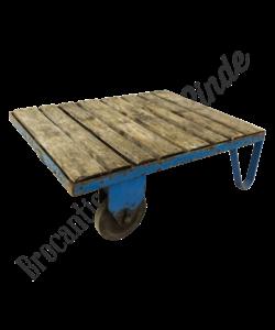 Vintage palletkar 'blauw small'