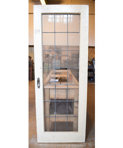 211,5 x 78 cm - Glas in lood deur No. 119