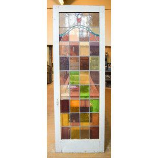 228 x 78 cm - Glas in lood deur No. 129