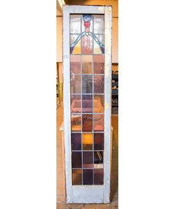 228,5 x 54 cm - Glas in lood deur No. 130