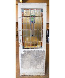 220,5 x 80 cm - Glas in lood deur No. 138