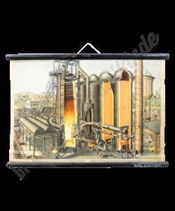 Schoolplaat 'Staalfabriek'