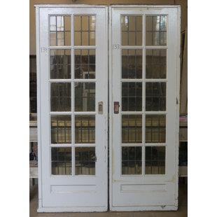 214 x 73 cm - Ensuite glas in lood deuren No. 133/134