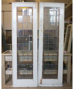 243 x 72 cm - Set glas in lood deur No. 122/123