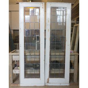 243 x 72 cm - Set glas in lood deur No. 122/123