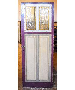 209 x 77,5 cm - Glas in lood deur No. 228