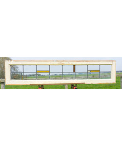 34,5 x 148 cm - Glas in lood raam No. 193