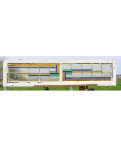 33 x 143 cm - Glas in lood raam No. 195
