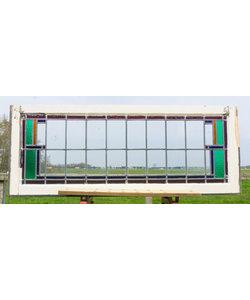 51,5 x 130,5 cm - Glas in lood raam No. 196