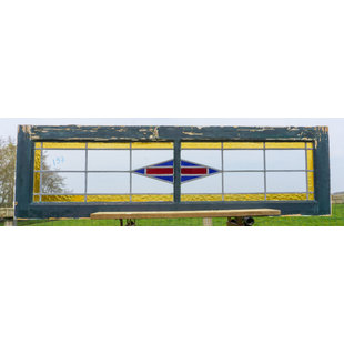 39 x 133,5 cm - Glas in lood raam No. 197