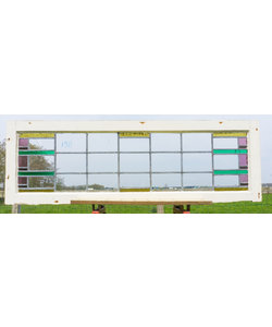 47 x 145 cm - Glas in lood raam No. 198