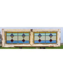 40 x 130 cm - Glas in lood raam No. 199