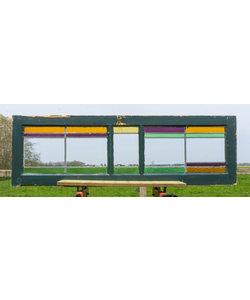 42 x 137 cm - Glas in lood raam No. 200