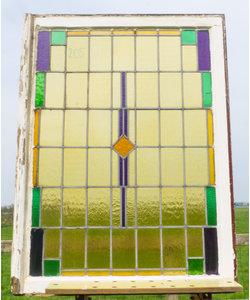 88 x 117 cm - Glas in lood raam No. 205