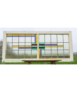 63,5 x 143 cm - Glas in lood raam No. 206