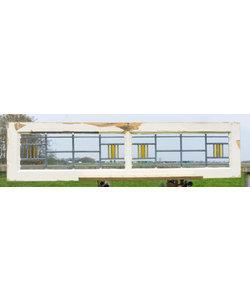 36 x 146 cm - Glas in lood raam No. 176