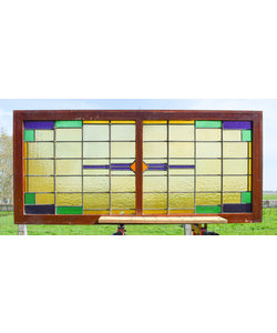 67,5 x 148 cm - Glas in lood raam No. 211