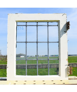 59 x 49,5 cm - Glas in lood raam No. 216