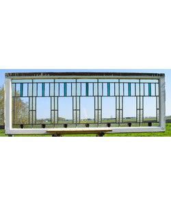 71,5 x 190,5 cm - Glas in lood raam No. 224