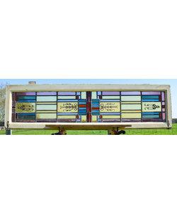 41,5 x 153 cm - Glas in lood raam No. 226