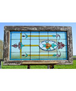 83 x 144,5 cm - Glas in lood raam No. 232