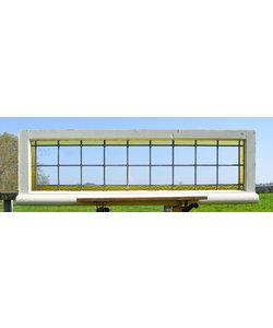 44,5 x 142,5 cm - Glas in lood raam No. 235