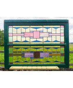 75,5 x 100 cm - Glas in lood raam No. 268
