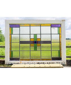 70 x 80 cm - Glas in lood raam No. 292