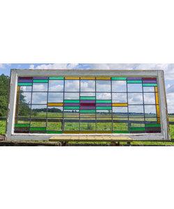 69 x 154 cm - Glas in lood raam No. 271