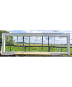 54,5 x 145,5 cm - Glas in lood raam No. 272