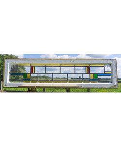 38 x 149,5 cm - Glas in lood raam No. 273