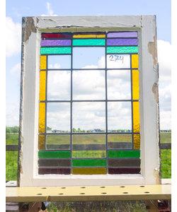69 x 53,5 cm - Glas in lood raam No. 274