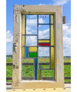 64,5 x 38 cm - Glas in lood raam No. 278
