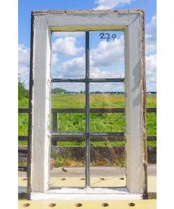 60,5 x 34,5 cm - Glas in lood raam No. 279