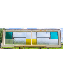 44,5 x 144 cm - Glas in lood raam No. 280