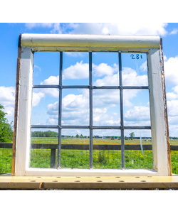 59 x 60 cm - Glas in lood raam No. 281