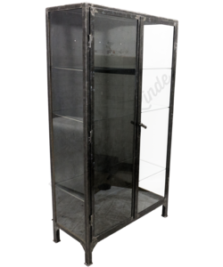 Apothekerskast 'Brushed Steel & Glass XL'