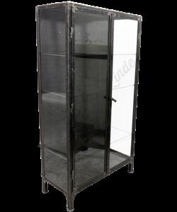 Apothekerskast 'Brushed Steel & Glass XL'