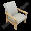 Vintage fauteuil 'Grijs'