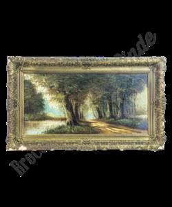 Vintage schilderij 'Natuur'