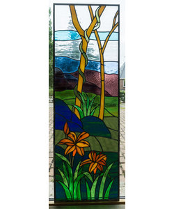 144 x 48 cm - Glas in lood raam Indonesië No. 3