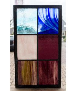 33 x 18,8 cm - Glas in lood raam Indonesië No. 19