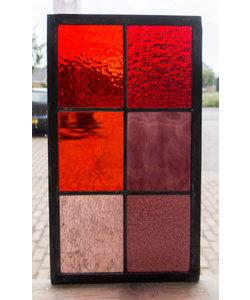 33 x 18,8 cm - Glas in lood raam Indonesië No. 20