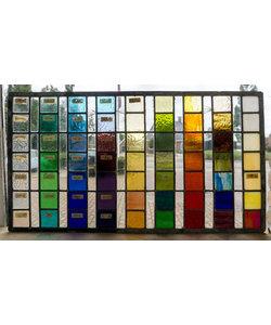 36 x 66,5 cm - Glas in lood raam Indonesië No. 27