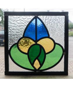 20 x 20 cm - Glas in lood raam Indonesië No. 28