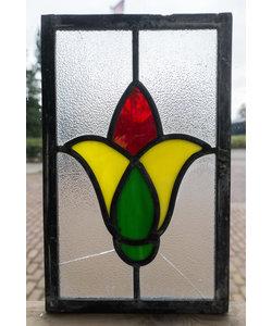 25 x 15 cm - Glas in lood raam Indonesië No. 32