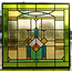 50 x 52 cm - Glas in lood raam Indonesië No. 44