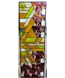 59,5 x 179 cm - Glas in lood raam Indonesië No. 54